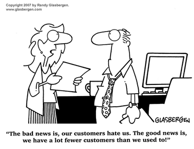Bad reviews lose customers